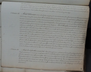 Folio showing Clause 35 of Grenada's Consolidated Slave Act, 1825. TNA CO103/12. Images reproduced courtesy of The National Archives, UK.