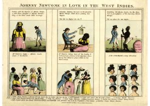 Johnny Newcome in love in the West Indies. 1808 The British Museum © The Trustees of the British Museum